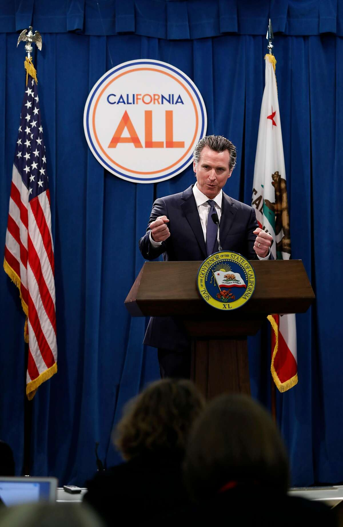 California Governor Gavin Newsom on May 09, 2019, in Sacramento, Ca.