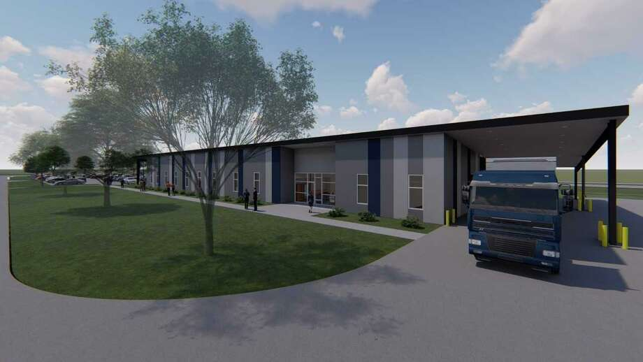 Approved as a project in the system's 2014 bond referendum package, the $13 million LAC-Transportation and Logistics Institute is a 16,000 square foot building under construction in Spring near East Cypresswood Drive and West Hardy Road. Here, renderings of the new facility are seen. Photo: Courtesy Photo / Courtesy Photo