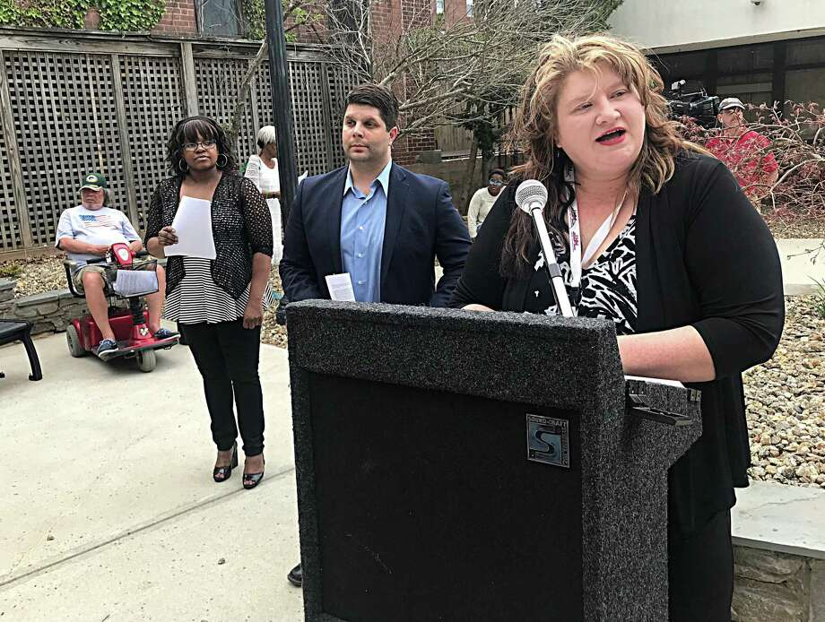 A year ago, local officials, activists and bus riders joined together at the Middletown Area Transit bus station to speak out against proposed state cuts that would increase fares and discontinue some routes. Photo: File Photo