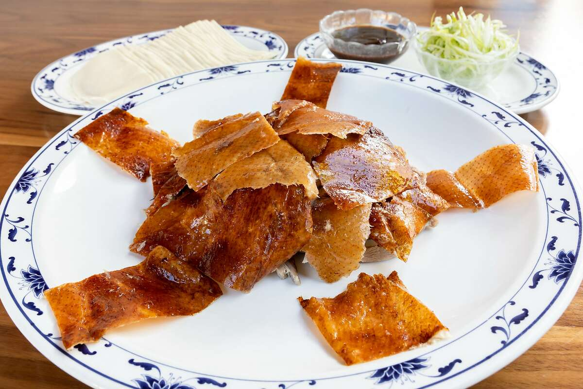 Peking duck is the most acclaimed dish at Berkeley restaurant Great China. Cecilia Chiang is often credited with popularizing the dish in San Francisco.