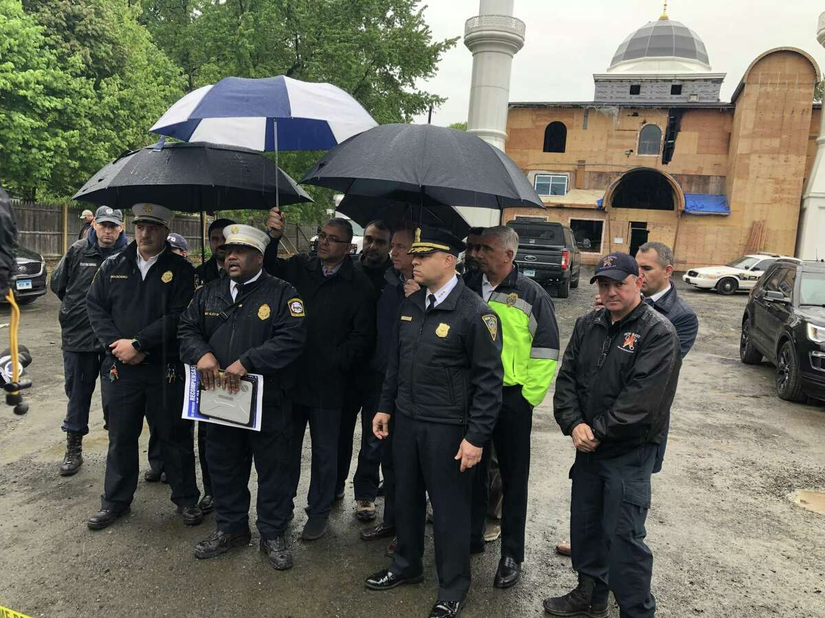 Fire Chief John Alston announced Monday that a fire at the Diyanet Mosque of New Haven had been intentionally set.