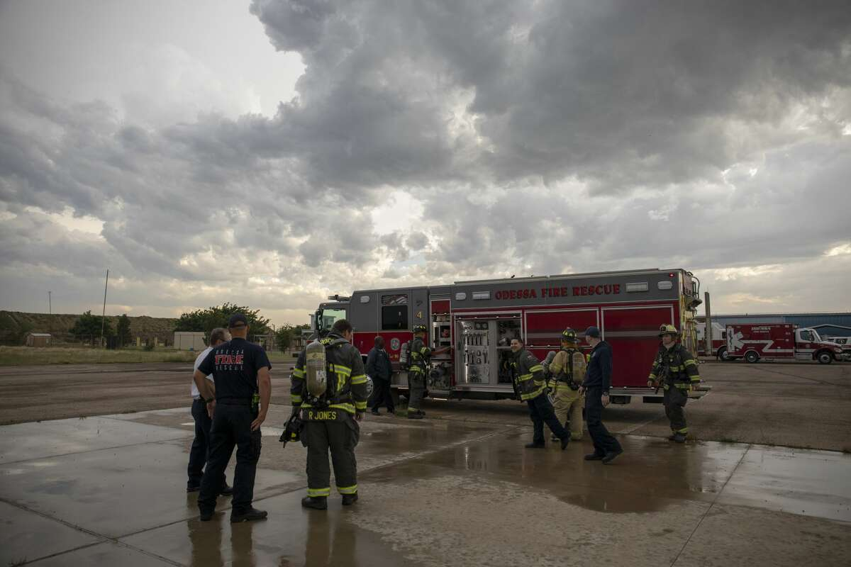 Students of the Citizens Fire Academy experience a live burn on May 7 at the Odessa Fire Rescue training facilities.