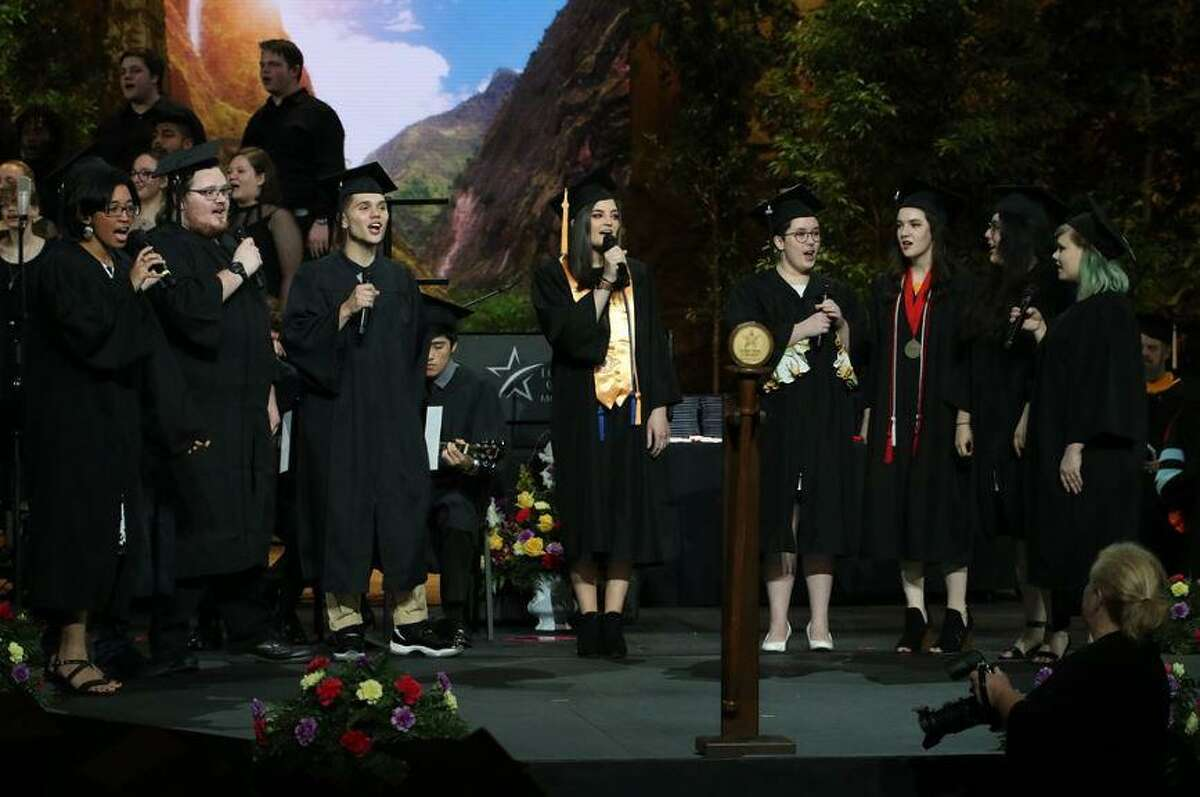 Lone Star College-Montgomery gave out diplomas or certificates to just over 400 students in the Class of 2019 Thursday, May 9, 2019 at The Woodlands Church- Fellowship Campus.In total, LSC-Montgomery awarded more than 1,500 associate degrees or certificates this year.