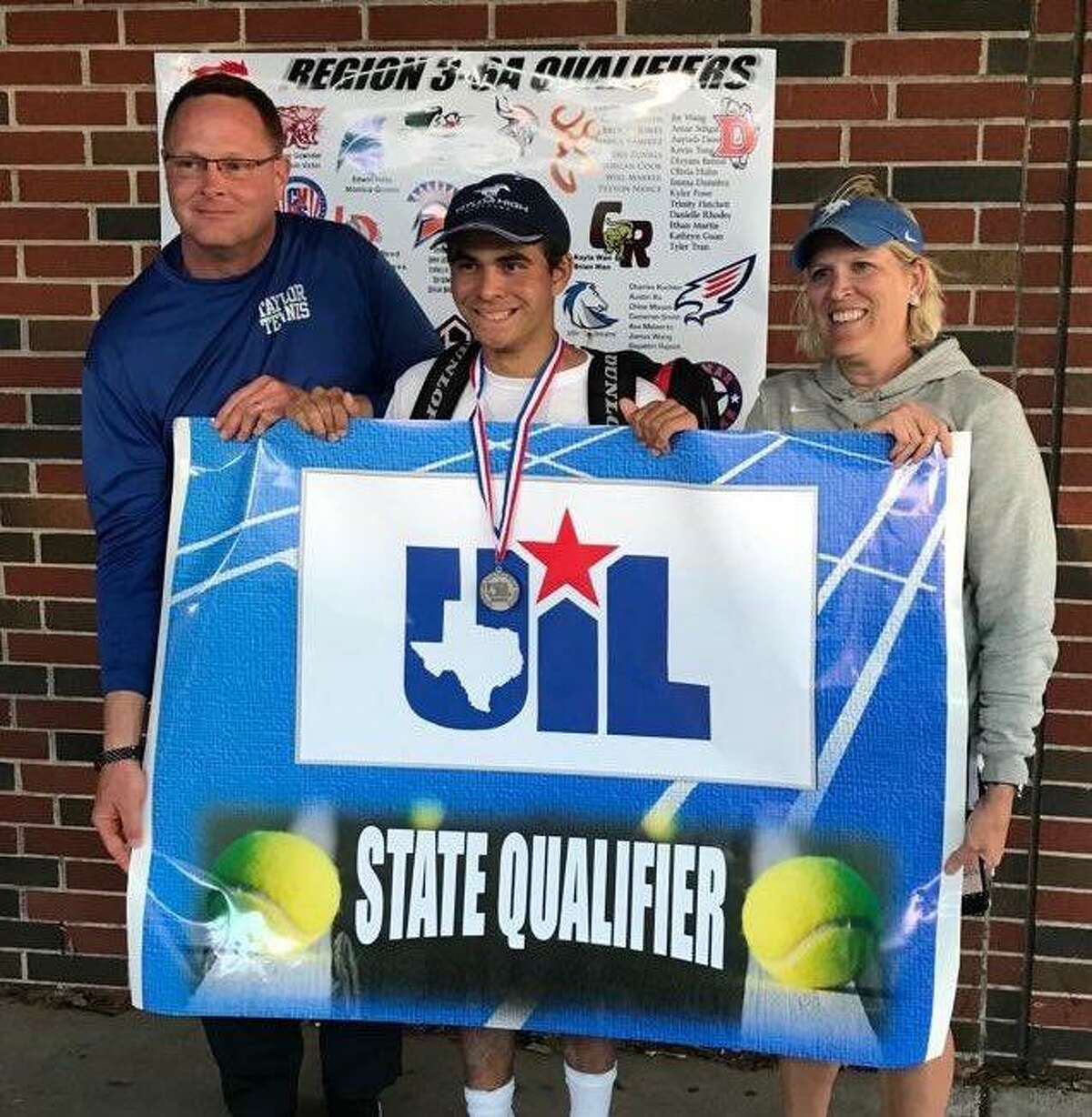 Katy Taylor sophomore Christopher Cequea-Rivero reached the final and won a state playback at the Region III-6A tennis tournament April 17-18 at Deer Park High School.