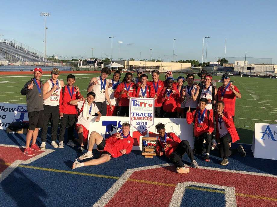 The St. Thomas track and field team won the TAPPS 6A state championship with 92 points, holding off Dallas Bishop Lynch by one point May 4-5 at Waco Midway High School. It is the Eagles' second state title in four years. Photo: St. Thomas High School / St. Thomas High School
