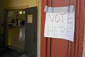 File photo of a budget referendum in New Milford.