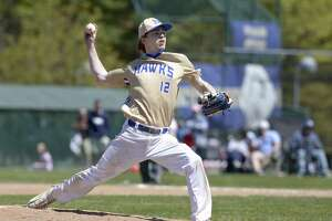 Newtown's Harrison Lucas pitches against Glastonbury on Saturday. The Nighthawks are on a 14-game winning streak.