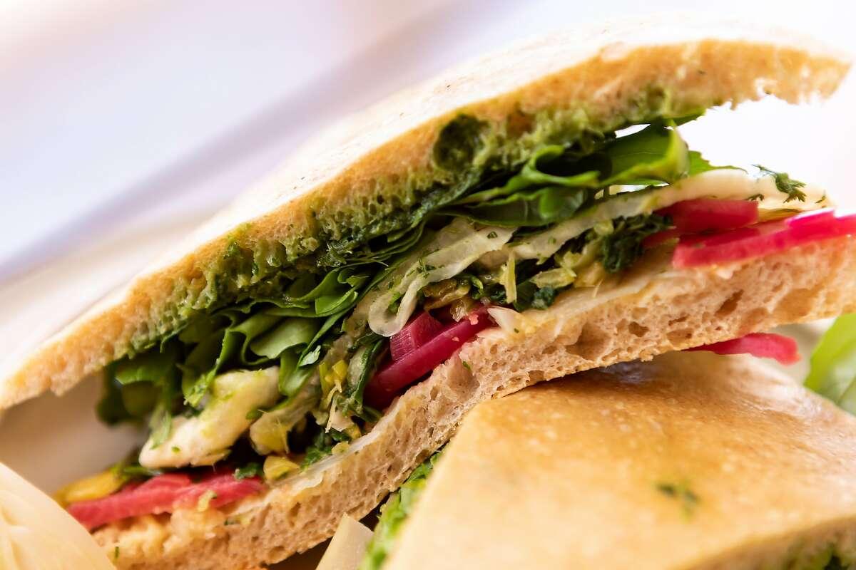 Beet and Turnip Sandwich at Standard Fare in Berkeley.