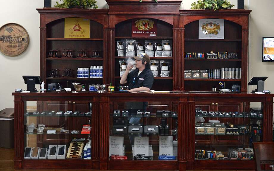 The front desk at the Cigar Bar in Beaumont. The recently opened store offers cigars, humidors and a climate controlled area to smoke.  Photo taken Tuesday, 5/7/19 Photo: Guiseppe Barranco/The Enterprise, Photo Editor / Guiseppe Barranco ©