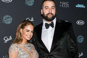 NEW YORK, NY - FEBRUARY 14:  Model Haley Kalil and football offensive tackle Matt Kalil attend the 2018 Sports Illustrated Swimsuit Issue Launch Celebration at Magic Hour at Moxy Times Square on February 14, 2018 in New York City.  (Photo by Gilbert Carrasquillo/FilmMagic)