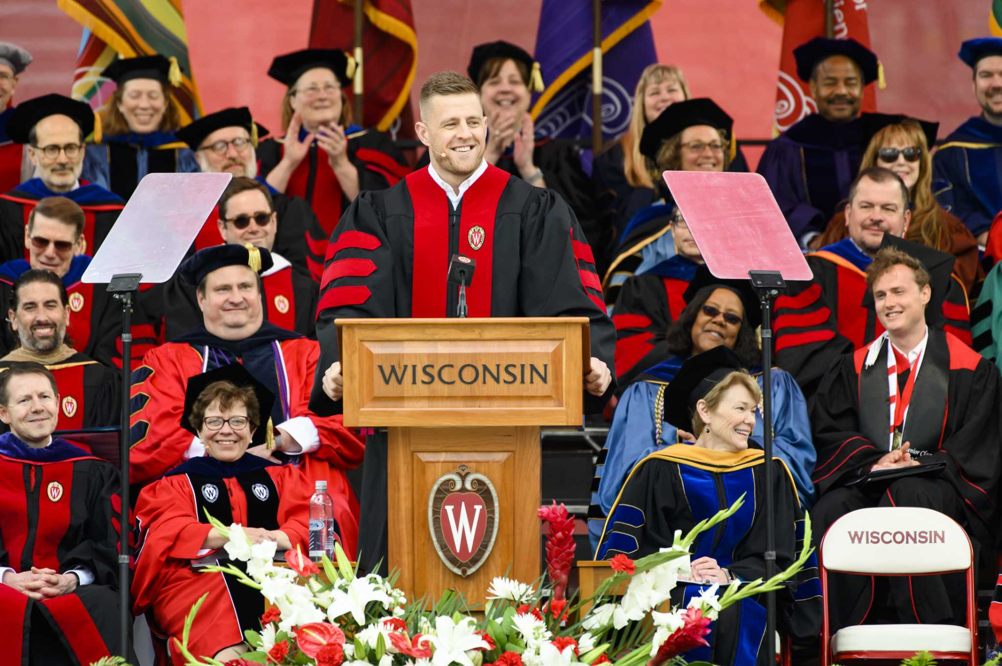 Highlights from J.J. Watt's Wisconsin commencement speech