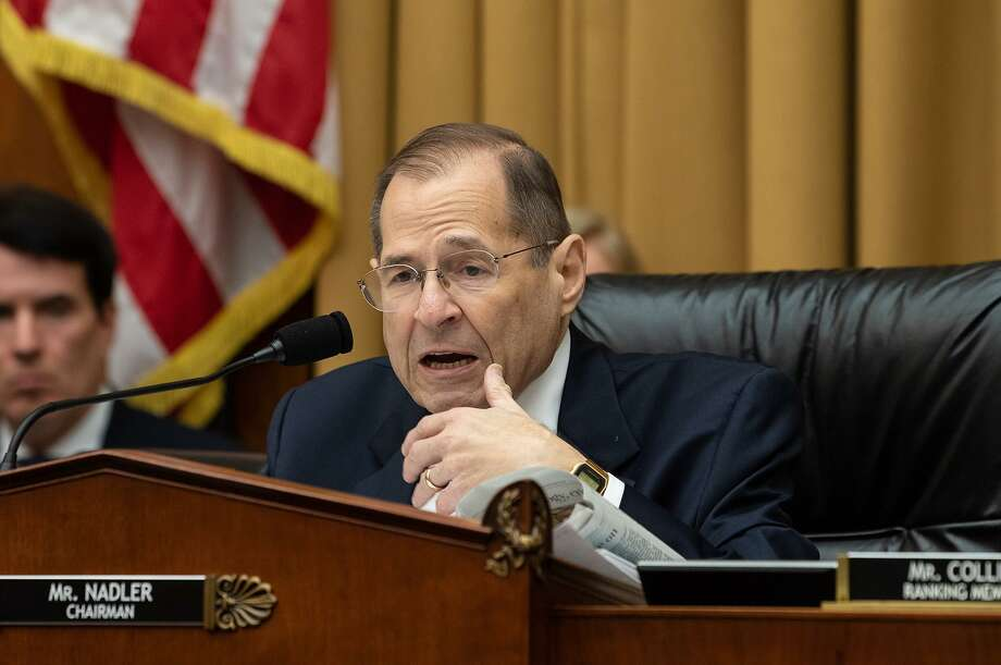 Chairman of the House Judiciary Committee, Jerry Nadler, speaks during a markup of a resolution supporting the committee report on Attorney General William Barr's failure to produce the unredacted Mueller report and underlying materials on Capitol Hill in Washington, D.C., on Wednesday. Congress must act on Trump's lawlessness. Photo: Nicholas Kamm /TNS / Getty Images North America