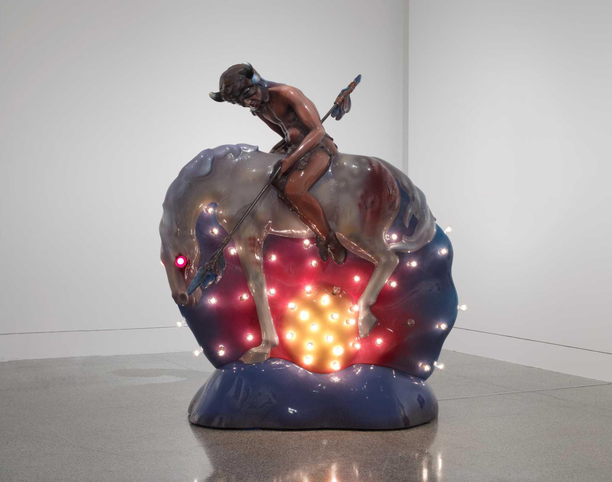 Art review: Luis Jimenez's electric 'End of the Trail' plugs into Pop Art