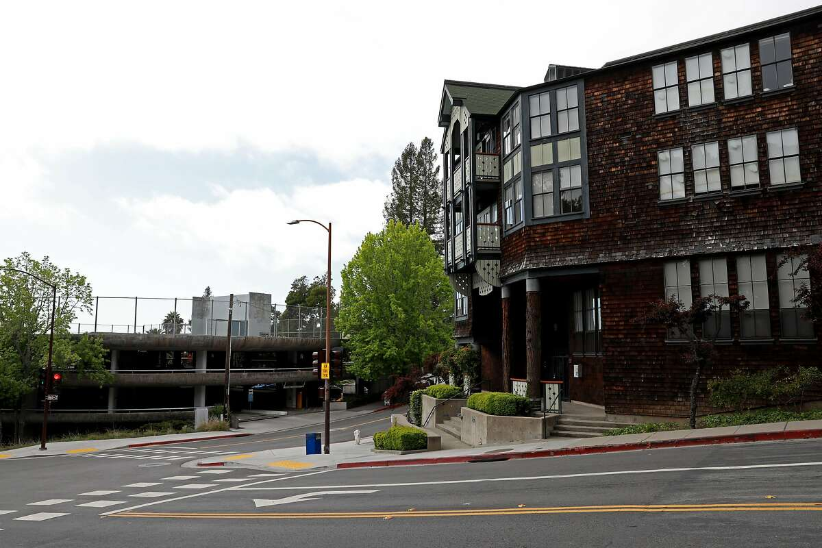 The Upper Hearst Parking Structure (left) and the Foothill Student Housing (right) at the University of California, Berkeley, at Hearst Ave. and La Loma Ave., in Berkeley, Calif., on Saturday, May 12, 2019. UC Berkeley has a housing proposal that would replace the parking garage at Hearst Ave. and La Loma Ave.