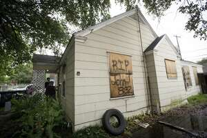 External view of 7815 Harding on Friday, May 10, 2019, in Houston. The home was the scene of a botched drug raid that took place on Jan. 28, 2019 and left the two homeowners dead and five police officers injured.