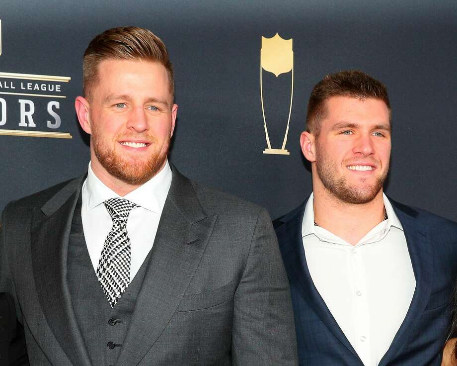PHOTOS: A look at the Watt brothers hanging out together MINNEAPOLIS, MN - FEBRUARY 03:   JJ Watt and his brother TJ Watt pose for Photographs on the Red Carpet at NFL Honors during Super Bowl LII week on February 3, 2018, at Northrop at the University of Minnesota in Minneapolis, MN.  (Photo by Rich Graessle/Icon Sportswire via Getty Images) Photo: Icon Sportswire/Icon Sportswire Via Getty Images
