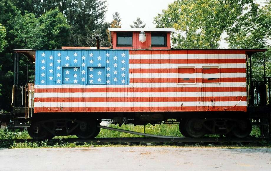 """A photographed titled """"Caboose,"""" taken in New York in 2005 by Robert Carley, an artist and photographer. The photo was part of a 2015 museum exhibition, """"Flags Across America."""" Photo: Robert Carley"""