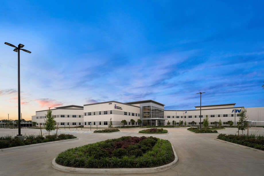 AIV and Gulf Coast Modification have opened a 320,000-square-foot warehouse, manufacturing and office headquarters at 22806 Northwest Lake Drive. Photo: AIV