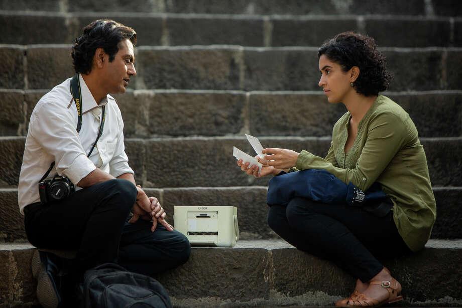 "Nawazuddin Siddiqui, left, and Sanya Malhotra in ""Photograph."" Photo: Joe D'Souza, Amazon Studios / Courtesy of Amazon Studios"