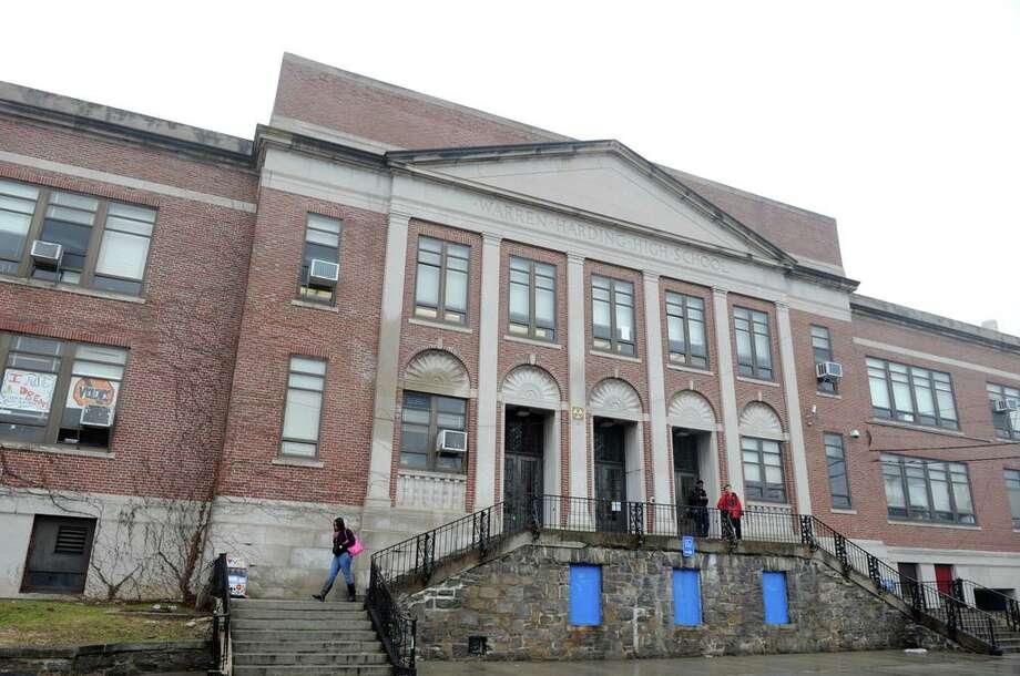 Harding High School on Central Avenue in Bridgeport, Conn. Photo: Autumn Driscoll / Autumn Driscoll / Connecticut Post