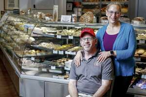 Three Brothers Bakery owners Bobby and Janice Jucker stand for a portrait at their South Braeswood Boulevard location Friday Aug. 17, 2018, in Houston. The Juckers learned they had lost their Kosher certification after 70 years in business.