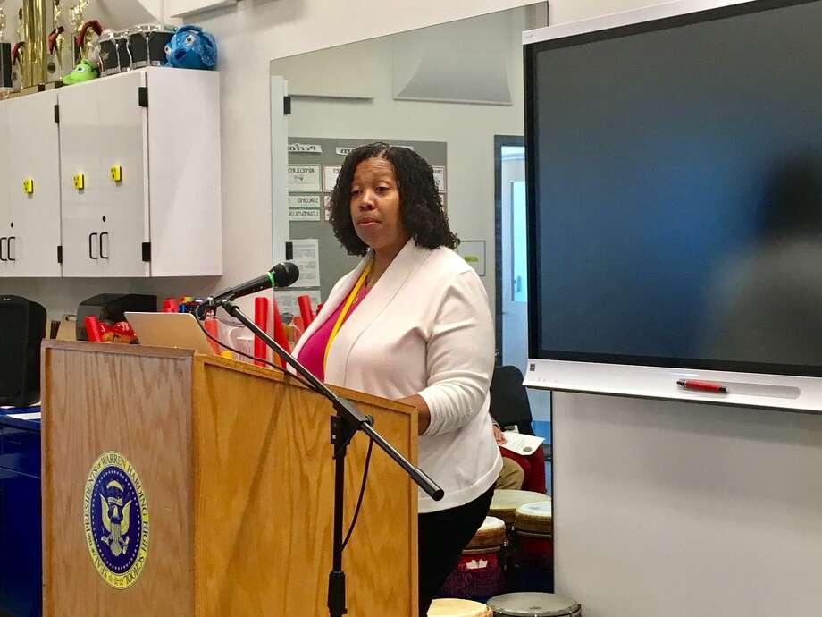 Sheena Graham in her classroom. October 18. 2018 Photo: Linda Conner Lambeck