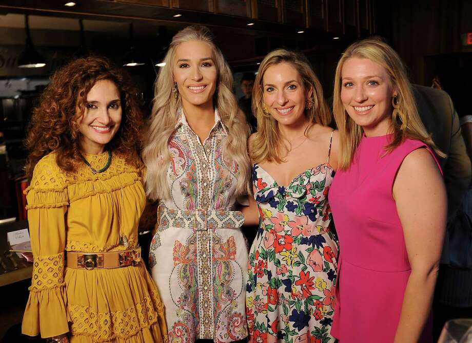 """From left: Sannam Warrender, Kara McCullers, Luvi Wheelock and Christina Stith at the Houston Ballet """"Raising the Barre"""" event at Artisans on Louisiana St. Sunday April 28, 2019.(Dave Rossman Photo) Photo: Dave Rossman, Contributor / 2019 Dave Rossman"""
