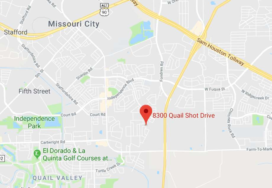 Houston police are investigating a fatal stabbing in the 8300 block of Quail Shot Drive on Tuesday, May 14, 2019. Photo: Google Maps