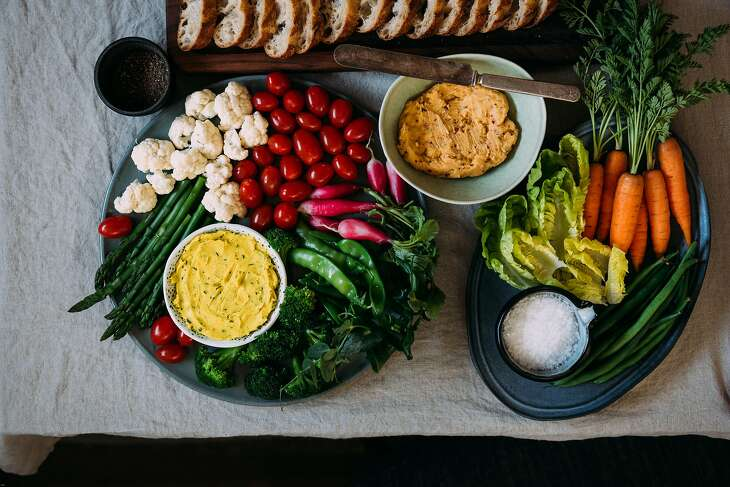 Crudites and compound butters