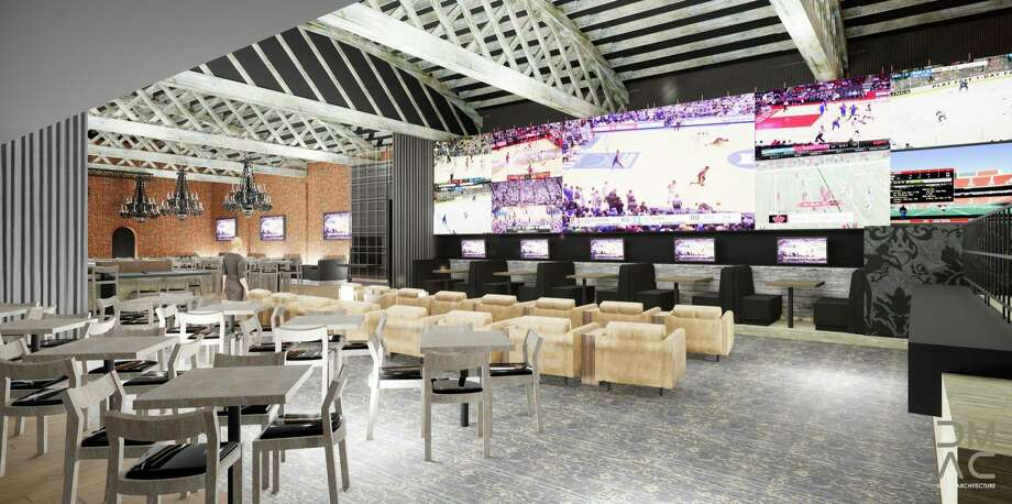 Rendering of a new sports wagering lounge under construction at Rivers Casino & Resort. (Created by DMAC Architecture) Photo: Rendering By DMAC Architecture