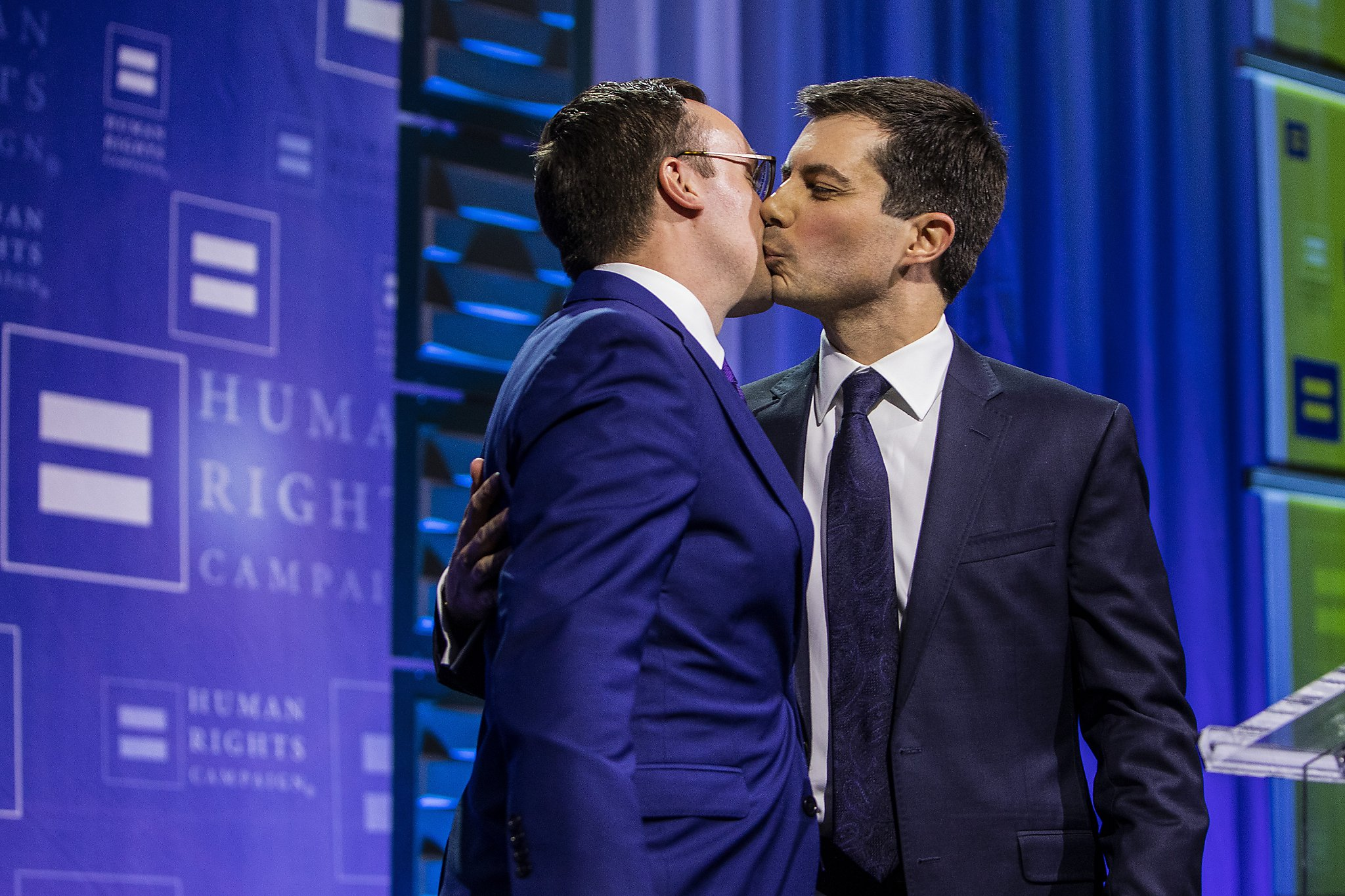 Image result for IMAGES of pete buttigieg and his husband