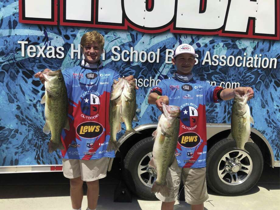 After placing second in the Texas High School Bass Association Houston Division recently, College Park High School freshmen and member of the school's bass fishing team Roy Crush and Mason Combrink took fourth place in the Texas High School Bass Association State Championship over the weekend in Athens.