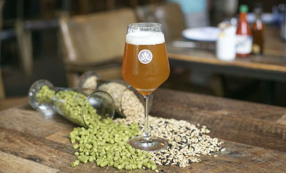 Southerleigh Fine Foods & Brewery will release Texas Born and Bred, pale ale style beer that's the first beer from the brewery made with 100 percent Texas-sourced ingredients, on Saturday. Photo: Giant Noise