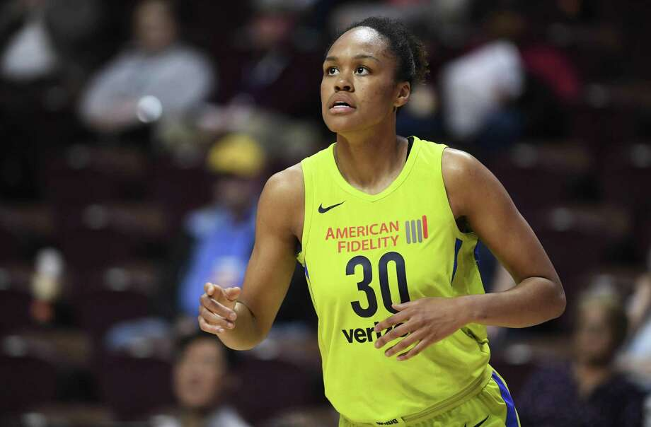 Dallas Wings' forward Azura Stevens during a preseason game on May 8 in Uncasville. Photo: Jessica Hill / Associated Press / AP2018