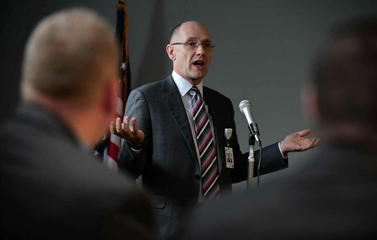 Peter Cordeau, president of Norwalk Hospital, in May 2019.