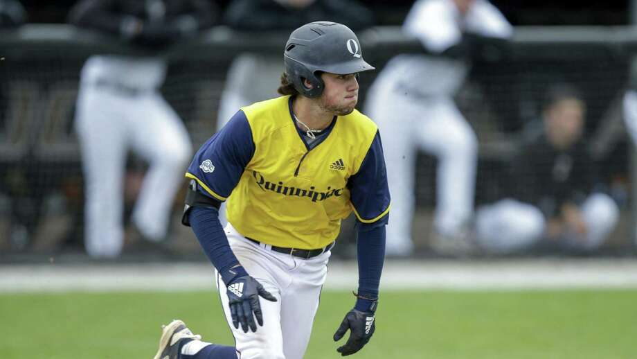 Ian Ostberg is one of three .300 hitters for MAAC co-regular season champion Quinnipiac baseball team. Photo: Stew Milne / Associated Press / Copyright 2019 The Associated Press. All rights reserved.
