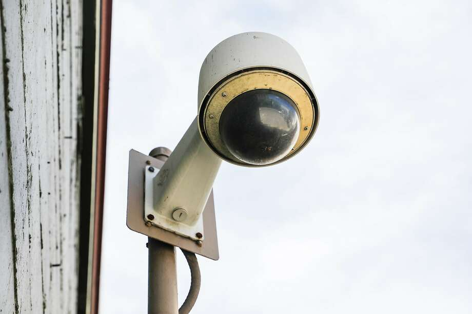 The San Francisco Board of Supervisors has banned city departments from using facial recognition software. This camera is on McAllister Street. Photo: Gabrielle Lurie / The Chronicle