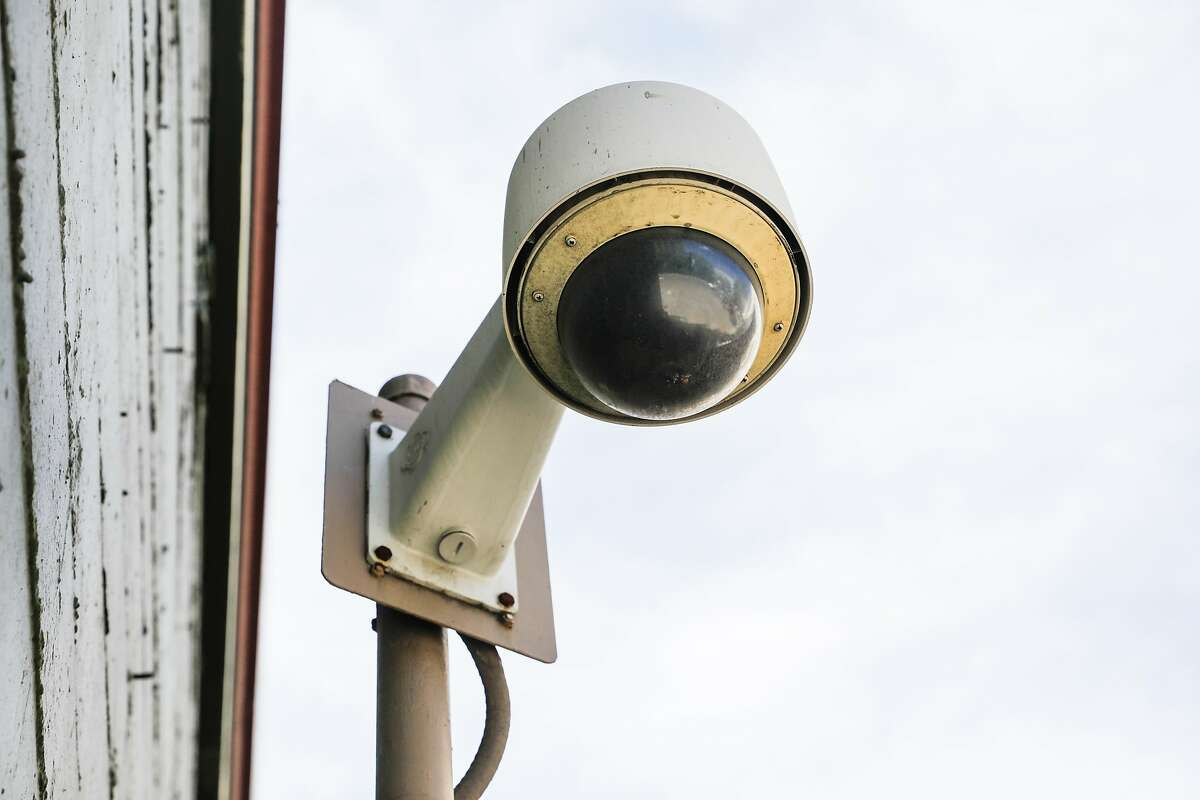 A security camera is seen on McAllister Street in San Francisco, California, on Monday, May 13, 2019. The Board of Supervisors is considering a proposal to ban city departments from using facial recognition software. While privacy advocates applaud the move, others say it will keep the city from a useful tool in crime solving. San Francisco law enforcement agencies such as the police department and District Attorney's office, say they do not use facial recognition software.