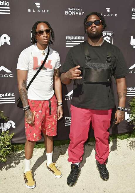 COACHELLA, CALIFORNIA - APRIL 14: 88 Camino (L) and Derek Wise of 88Glam attend Republic Records Celebrates Their Class Of 2019 In Coachella Valley at Zenyara on April 14, 2019 in Coachella, California. (Photo by David Crotty/Getty Images for Republic Records)