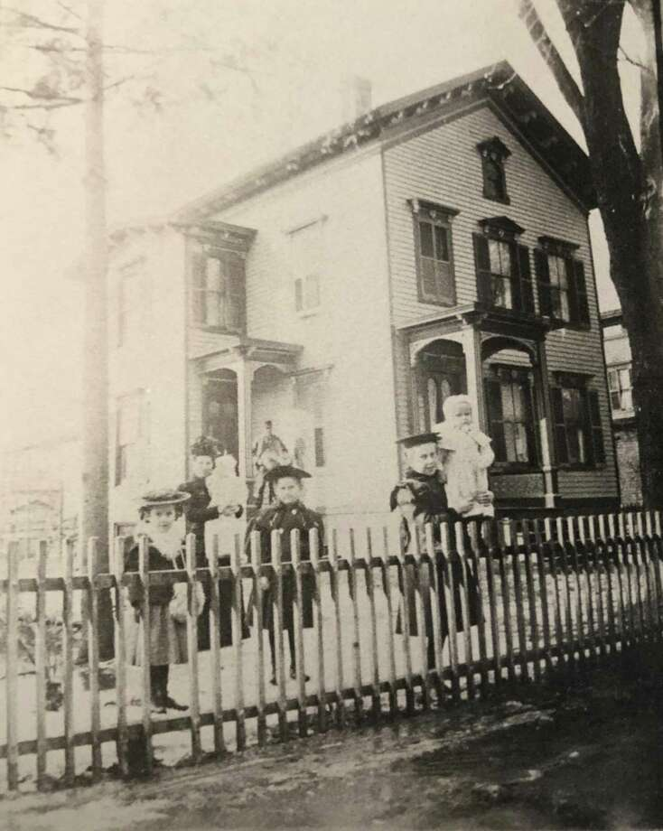 "New Milford has had its share of families that have deep roots in town. Among them is the Samuel J. Ferriss family. The family is shown above in early spring 1898 at their West Street home. They are, from left to right, S. J. Ferriss, Eliza L.D.T Ferriss holding Eliza, Alice Bell, Edith and Gladys holding S. Boynton, according to the records of the late E. Paul Martin. If you have a ""Way Back When"" photo you'd like to share, contact Deborah Rose at drose@newstimes.com or 860-355-7324. Photo: Courtesy Of E. Paul Martin's Family / The News-Times Contributed"