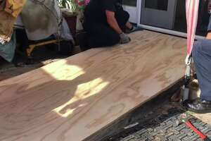 Officers from the Sunnyvale Department of Public Safety rebuilt a wheelchair ramp Monday evening.