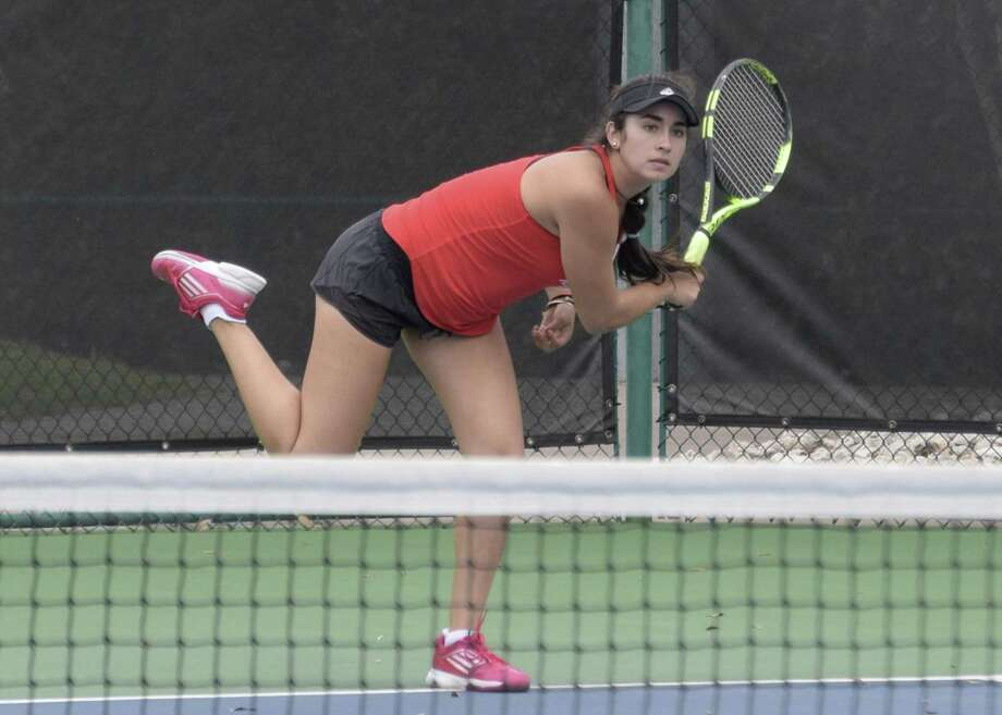 Melissa Vizcardo is headed to her third state tournament and first as a girls doubles player. Photo: Tracy Kuglen / Submitted