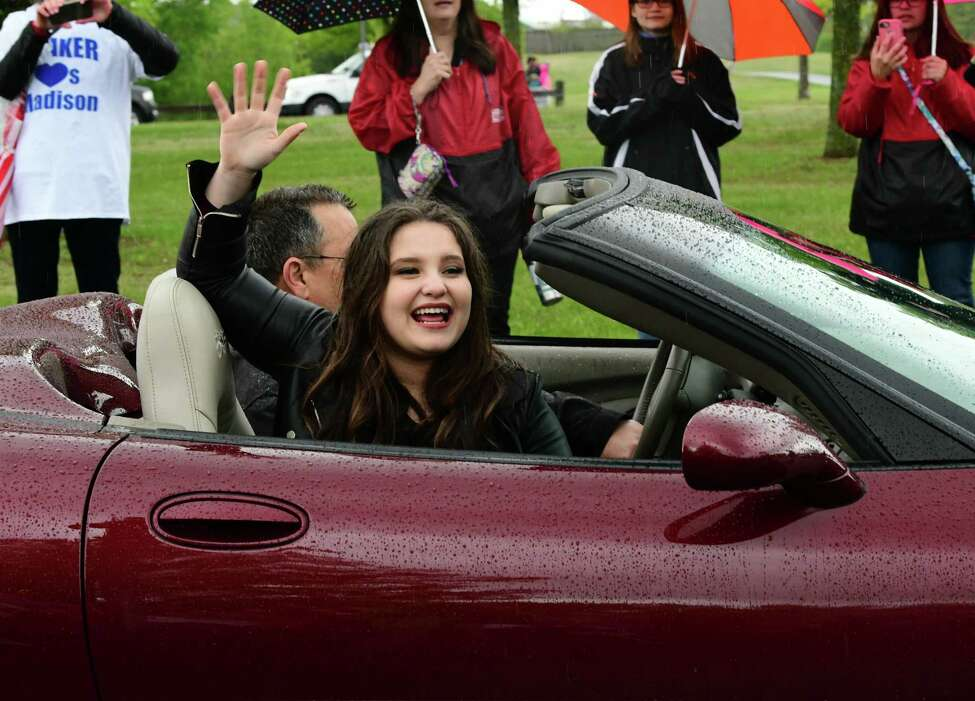 American Idol finalist Madison VanDenburg is seen in a parade in her honor leading to The Crossings of Colonie where she will perform on stage on Tuesday, May 14, 2019 in Colonie, N.Y. The show had a production crew filming the event for the next show. (Lori Van Buren/Times Union)