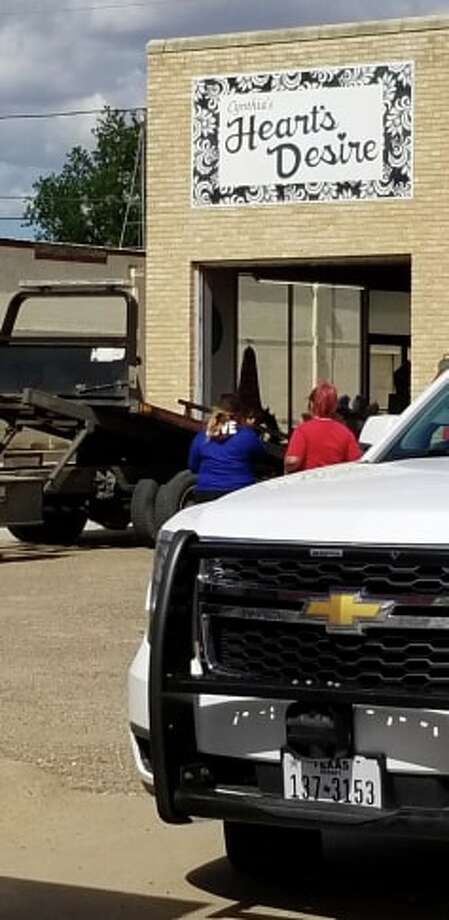 A vehicle crashed into Heart's Desire on Monday afternoon. Photo: Robert Sanchez/Courtesy Photo