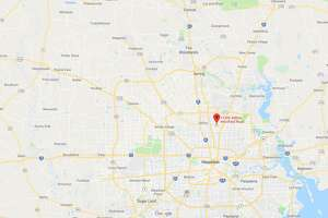FILE - A screenshot of a Google Maps image of the 12300 block of Aldine Westfield Road in Houston, Texas. Tuesday, police reported a gunman shot and killed a man in Keith-Weiss Park and was on the loose.