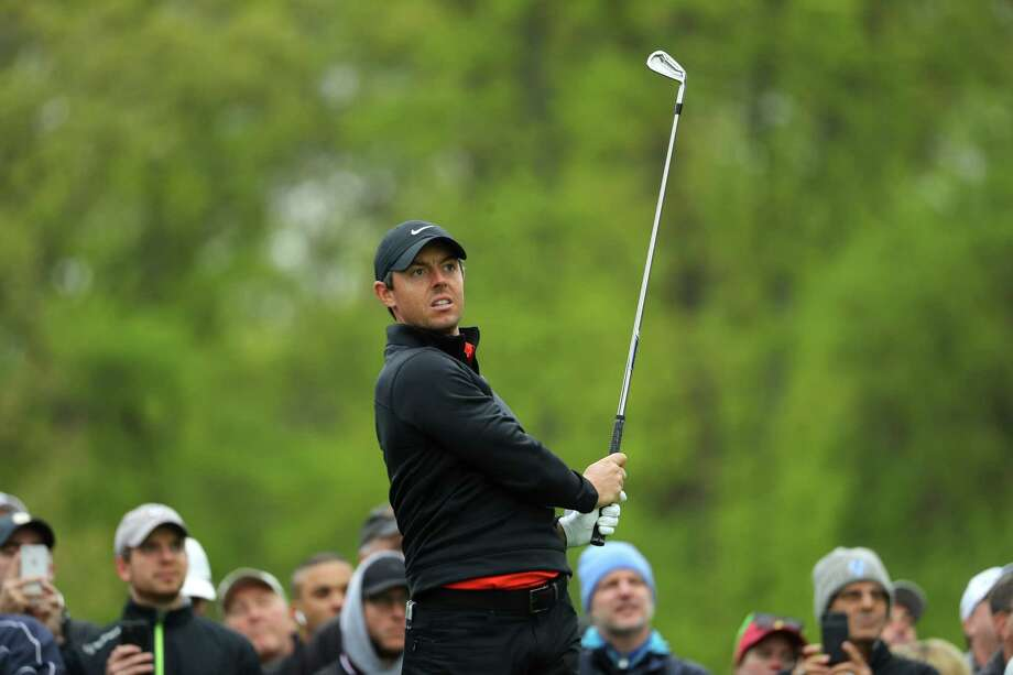 BETHPAGE, NEW YORK - MAY 14: Rory McIlroy of Northern Ireland plays a shot during a practice round prior to the 2019 PGA Championship at the Bethpage Black course on May 14, 2019 in Bethpage, New York. (Photo by Warren Little/Getty Images) Photo: Warren Little / 2019 Getty Images