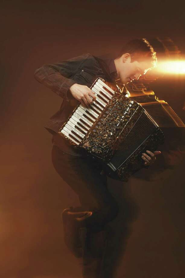 Sam Reider with his accordion. Photo: Fire In The Kitchen