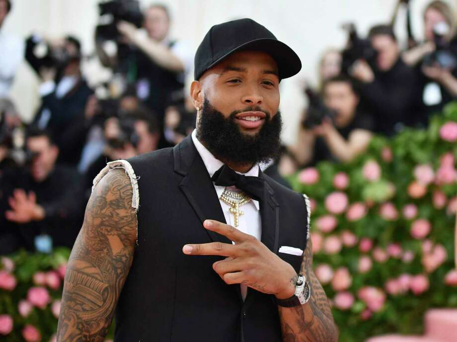 "Odell Beckham Jr. attends The Metropolitan Museum of Art's Costume Institute benefit gala celebrating the opening of the ""Camp: Notes on Fashion"" exhibition on Monday, May 6, 2019, in New York. (Photo by Charles Sykes/Invision/AP) Photo: Charles Sykes / 2019 Invision"