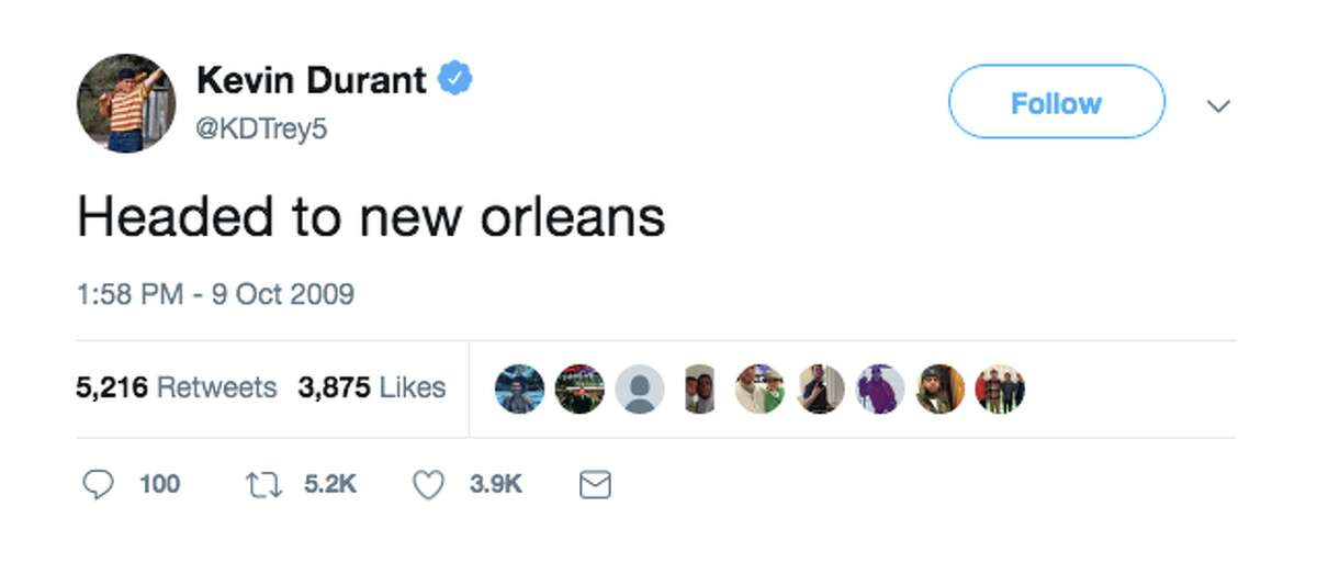 Shortly after the New Orleans Pelicans received the first overall pick in the 2019 NBA Draft, fans began sharing a 2009 tweet where Kevin Durant says he's