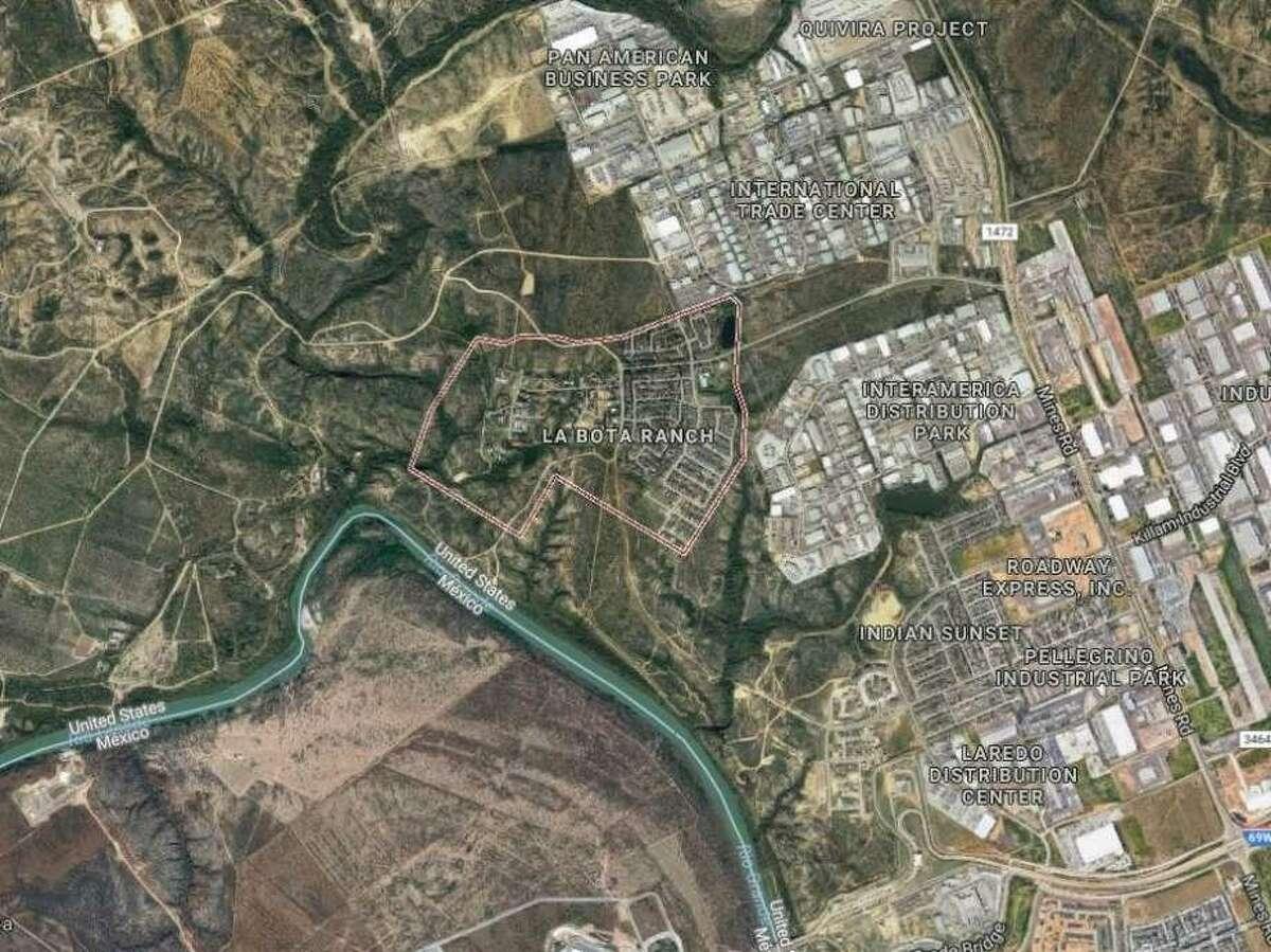 La Bota Ranch is seen in this satellite image.